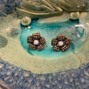 Jcrew delicate flower earrings